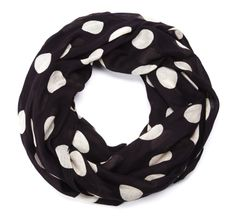 Polka dots // infinity scarf