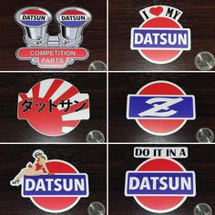 Datsun decals now available at the Datsun Garage store! All good in stock now. Check em out. Tag a friend. #datsun #decals #datsungarage #weatherresistant #risingsun #datsuncompetition #datsungirl #doitinadatsun #classicz #s30 #s130 #ilovemydatsun