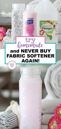 Homemade Fabric Softener Everyone enjoys fresh smelling clothes and the softness that fabric softener brings. With this recipe you can . Homemade Cleaning Products, House Cleaning Tips, Natural Cleaning Products, Cleaning Hacks, Cleaning Items, Daily Cleaning, Household Products, Natural Products, Household Tips