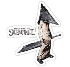 Welcome to Silent Hill, Pyramid Head by piciareiss #spooky #horror #design #gaming #sticker #decal