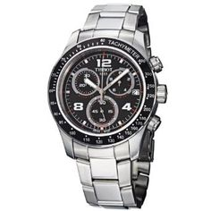 Shop for Tissot Men's 'V Black Dial Stainless Steel Chronograph Quartz Watch. Get free delivery On EVERYTHING* Overstock - Your Online Watches Store! Cool Watches, Watches For Men, Wrist Watches, Brand Name Watches, Affordable Watches, Best Watch Brands, Online Watch Store, Casio Watch, Stainless Steel Case