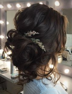 Loose Curls Updo Wedding Hairstyle Loose Curls Updo Wedding Hairstyle Wedding Hairstyles Tonya Pushkareva Wedding Hairstyle Inspiration - New Site Romantic Hairstyles, Best Wedding Hairstyles, Bride Hairstyles, Hairstyle Ideas, Bridesmaids Hairstyles, Brunette Wedding Hairstyles, Hair Ideas, Hairstyle Wedding, Trendy Hairstyles