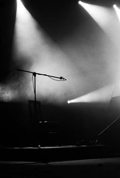 """♂ black and white photography light ray on empty stage """"Void"""" by *venetas"""