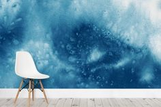 Blue Abstract Watercolour Paint Wallpaper