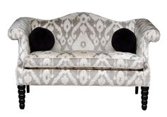 Vintage Ikat Loveseat with CamelBack