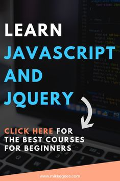 Learn coding for beginners: The best JavaScript and jQuery courses and books for beginners. Start learning front end web development and start a career in coding or make money coding by freelancing while you're still learning. Programming Tutorial, Learn Programming, Computer Programming, Web Design Quotes, Web Design Tips, Design Trends, Online Coding Courses, Computer Coding, Computer Science