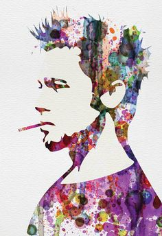 Fight Club Watercolor Poster at AllPosters.com
