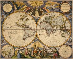 Historical maps Antique world map Map Old world by mapsandposters, $9.99