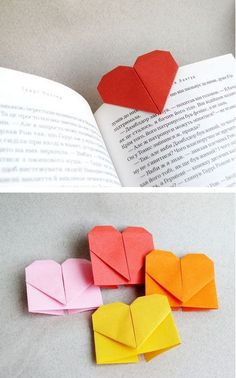 [0001] Origami Heart Bookmarks