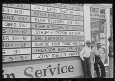 Ben Shahn, Drugstore in Newark, Ohio, 1938 Road Photography, Photography Sites, Newark Ohio, Ben Shahn, Hair Tonic, Anatole France, Typography Letters, Lettering, E 10