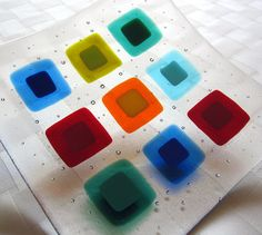 Fantastic Fused Glass Plate