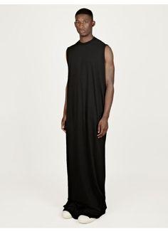 Rick Owens DRKSHDW Men's Black Cotton Smock Dress | oki-ni (£181.00) - Svpply