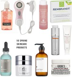 Spring Skincare Products-I have and swear by the Neutrogena and Kiehl's cream, the others are really pricey