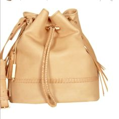 Joie Mabel tan bucket bag Adorable bucket bag. Great used condition. Barely used. This is a great neutral piece that will go with everything! Real leather. Sold out!! Rose gold hardware. Very minimal wear see last picture Joie Bags