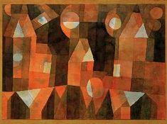 Paul Klee - Haeuser an der Bruecke (Drei Haeuser an