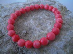 Koralle - Bambus-Korallen Armband 8 mm - ein Designerstück von star-schmuck bei DaWanda