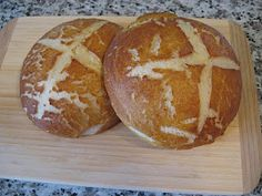 So good...Pretzel bread, many suggest to make a double batch. With one recipe I got four huge rolls.