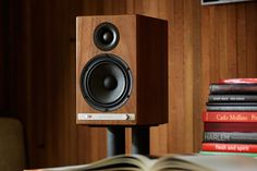 Audioengine's HD6 powered speakers pack Bluetooth and a built-in amp. #speakers #soundsystems