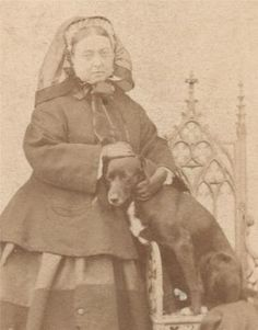1866 CDV of Queen Victoria with Her Pet Dog 'Sharp' | eBay