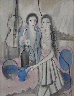 Les-deux-soeurs-au-violoncelle-1913-1914