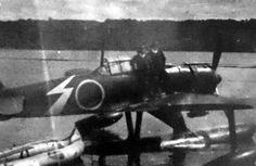 "A Japanese A6M2-N ""Rufe"" float plane."