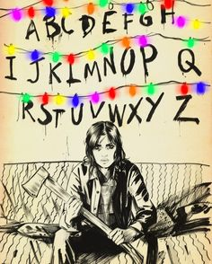 Joyce Byers art - Stranger Things