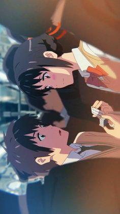 your name wallpaper - your name ` your name wallpaper ` your name anime ` your name aesthetic ` your name kimi no na wa ` your name wallpaper aesthetic ` your name quotes ` your name mitsuha Manga Anime, Fanarts Anime, Otaku Anime, Anime Kiss, Anime Chibi, Anime Kawaii, Anime Love, Mitsuha And Taki, Kimi No Na Wa Wallpaper