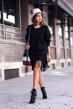 11 Winter Fall Outfits Looks Of Fringe Style 2015-16 For Girls