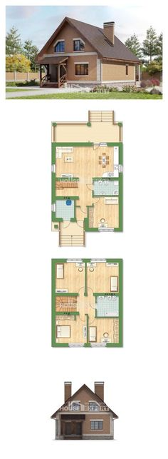 Two Story House Plans and mansard, beautiful Custom Home, House Expert Craftsman Floor Plans, House Floor Plans, Building Plans, Building A House, Casa Top, Moise, Contemporary House Plans, Forest House, Villa