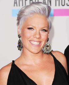 Pink: One of the first young celebrities to try out the trend, Pink rocked silvery tresses back in 2010.