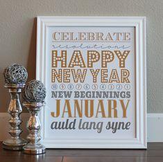 {Freebies} New Years Eve Subway Art + Printables Holiday Crafts, Holiday Fun, Festive, Holiday Decor, Deco Nouvel An, New Year Printables, Free Printables, Party Printables, Christmas Printables