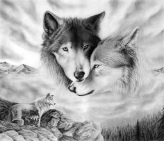 a wolf will always protect it's mate