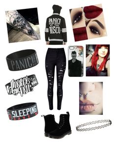"""Emo"" by asheyrae2003 on Polyvore featuring Dr. Martens and Miss Selfridge"