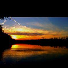 Sunset at the lake ~ taken by Steve
