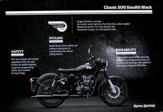 Royal Enfield Classic 350cc, Royal Enfield Modified, Enfield Bike, Black Bullet, The New Classic, Black Singles, Super Bikes, Custom Paint, Alloy Wheel