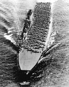 USS Lexington underway, circa early 1930s; note one aircraft having just taken off