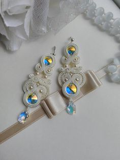 Soutache earrings. Soutache jewelry. Handmade by AMdesignSoutache