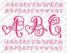 Monogram Svg Monogram Letters Svg Handlettered Font Cut Files Svg Files for Silhouete Cricut Monogram Alphabet Svg Alphabet Font Art Svg Hand - Monogram Svg Monogram Letters Svg Ono Font Alphabet Cursif, Caligraphy Alphabet, Hand Lettering Alphabet, Design Alphabet, Tattoo Lettering Fonts, Lettering Styles, Graffiti Lettering, Font Art, Cricut Monogram