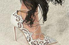 Christian Louboutin x Marchesa Spring 2014 Shoes