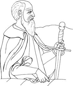 Saint Paul of Tarsus Catholic Coloring Page
