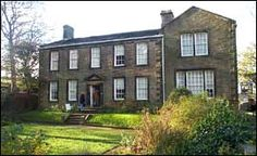 Haworth Parsonage in Yorkshire , England where Bronte family lived.