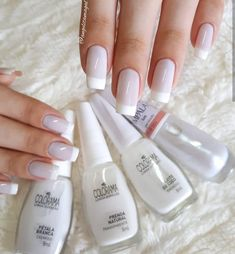Installation of acrylic or gel nails - My Nails Love Nails, Pretty Nails, My Nails, Wedding Nails Design, Wedding Designs, Elegant Nails, Perfect Nails, French Nails, Manicure And Pedicure