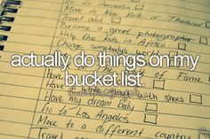 This would really help me with my whole bucket list thing.