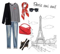 """Paris oui oui"" by moakarlsvard on Polyvore featuring Citizens of Humanity, Comme des Garçons, Le Specs, Gucci and Loewe"