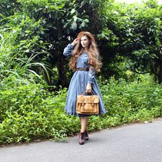 fannyrosie:  Cloudy break during the rainy season  Dress and belt: Axes Femme Boots: Sperry Top-Sider Rest: Offbrand
