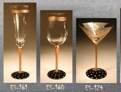 hand-painted glassware created by Gali Studio