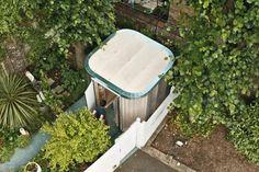 Boano Prišmontas creates modular garden office from plywood.