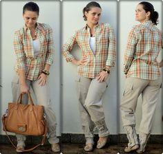 calça masculina + acessórios bem femininos + detalhes clique na imagem.