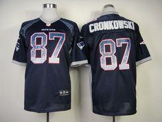 32df0c394 New England Patriots  87 Gronkowski Blue Elite Drift Fashion II NFL Nike  Jerseys Patriots 87