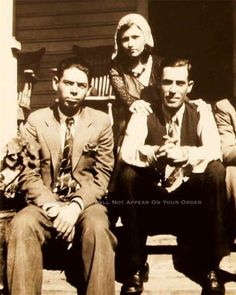 BONNIE AND CLYDE PHOTO RARE BUCK BLANCH BARROW W.D. JONES GANGSTERS 1932 20561
